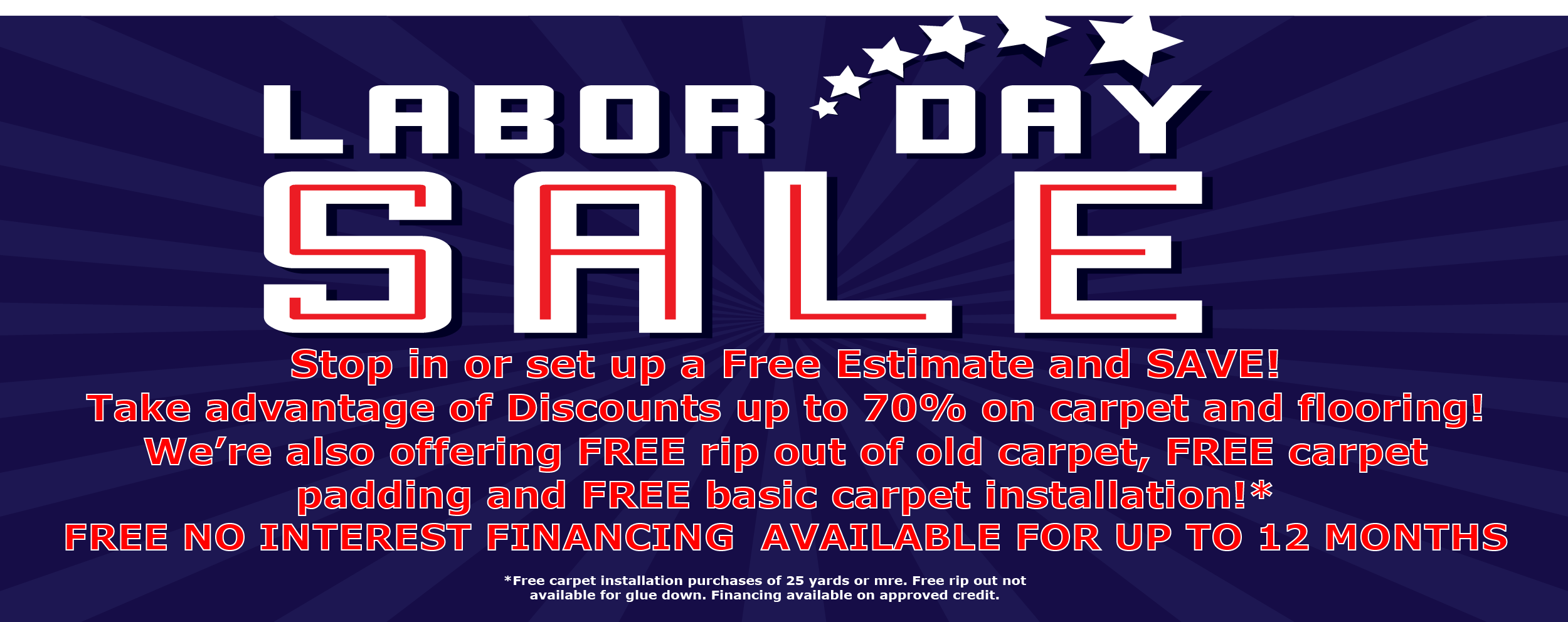 Summer carpet sale, summer flooring sale