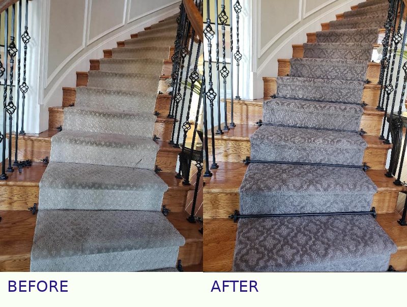pie steps with stair rods